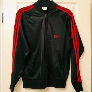 Vtg Adidas Three Stripe Track Jacket Made in USA